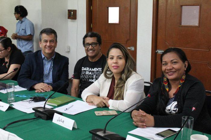 Julie Messias, diretora-executiva, e Francisca Arara, chefe de Departamento de Normatização e Registro, ambas do IMC. Foto: cedida